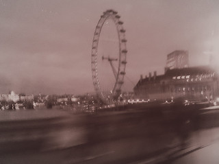 London Eye from a taxi