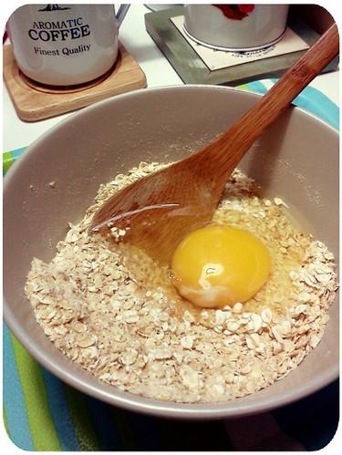 早餐 ::: 加生雞蛋的燕麥片 by 南南風_e l a i n e