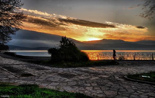 lake sunrise gold ioannina flickraward