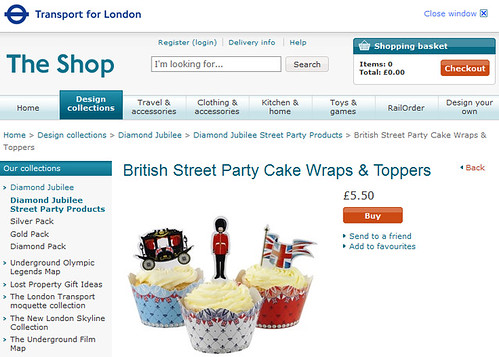 TfL Street Party Cake Decorations