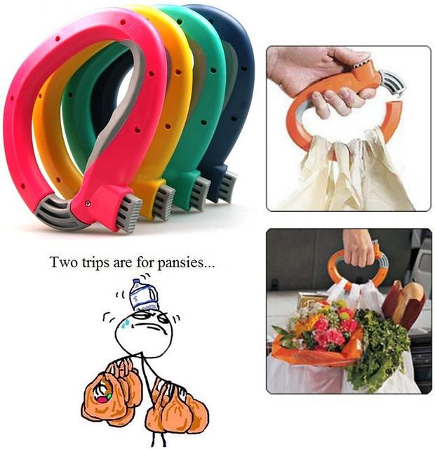 Grocery bag handle