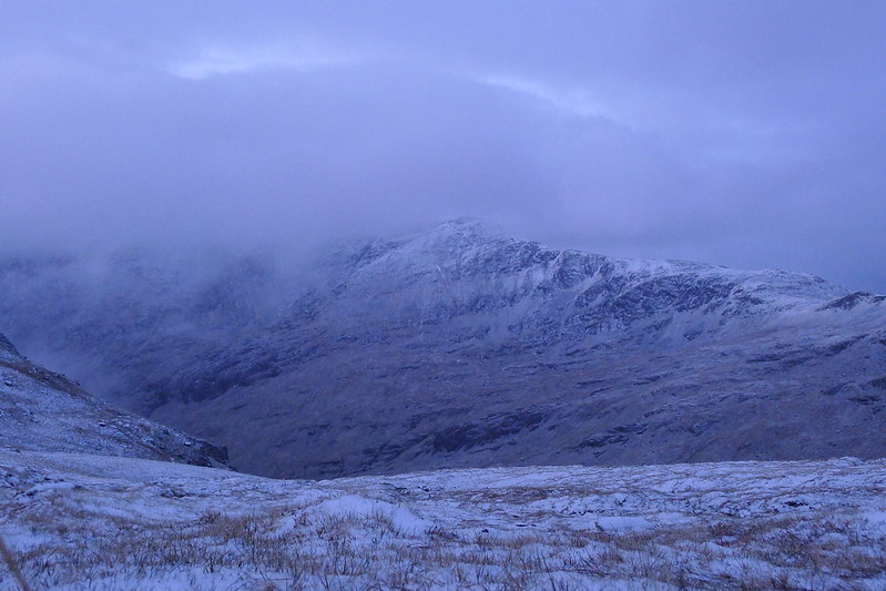 Snow clouds over Lurg Mhor