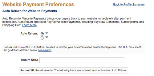 Turn on AutoReturn In Paypal