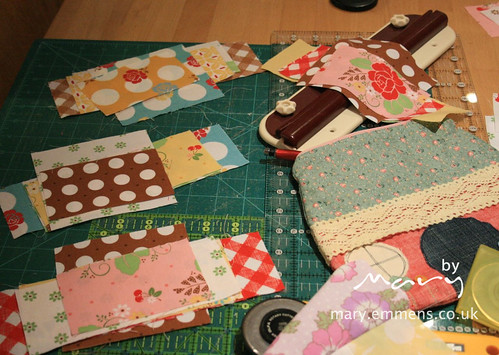 pieces sorted and ready to be sewn