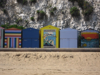 Beach huts at Broadstairs
