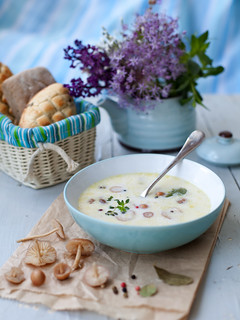 Wild Mushrooms Milk Soup