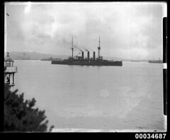 Japanese warship HIJMS IWATE in Sydney Harbour, January 1924