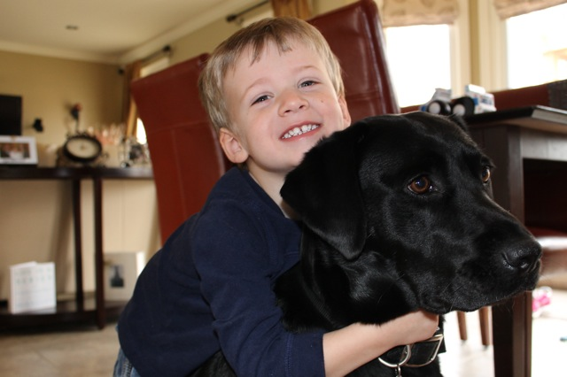 A boy and his dog2
