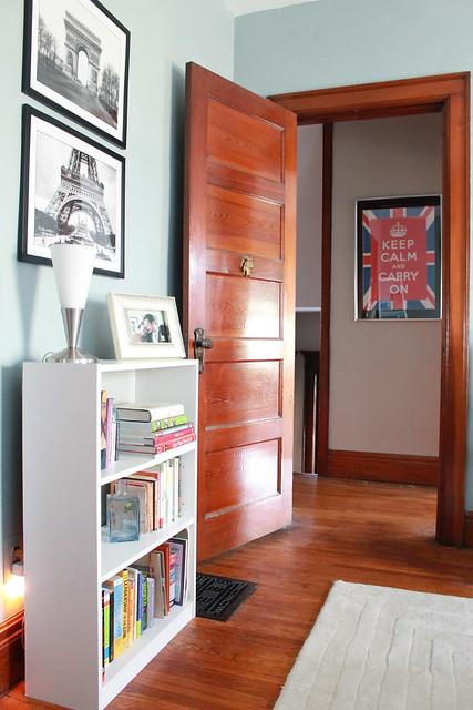 Grasscloth Bookshelf