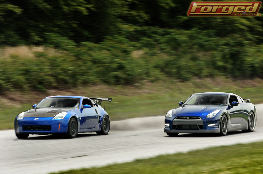 A 350 Z with a V8 GM Motor beating a GT-R