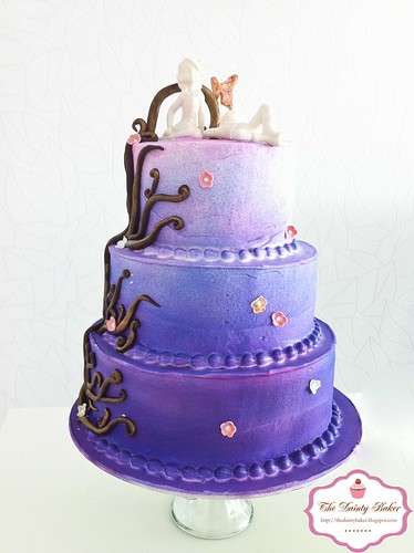 Ombre Fantasy Wedding cake-2