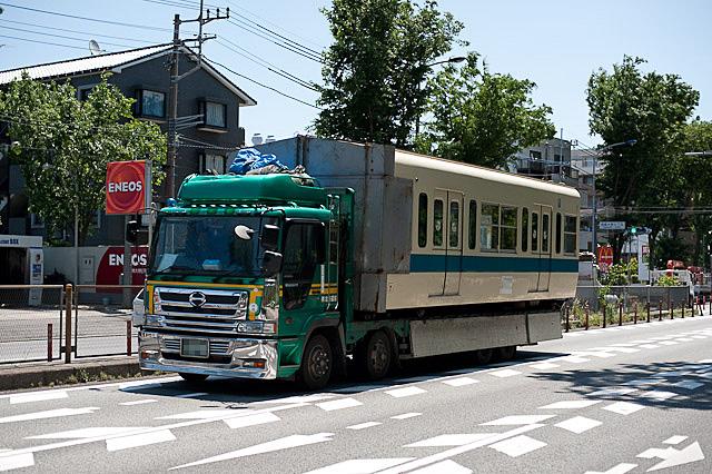 小田急電鉄 5000形 5063F クハ5163 廃車解体陸送