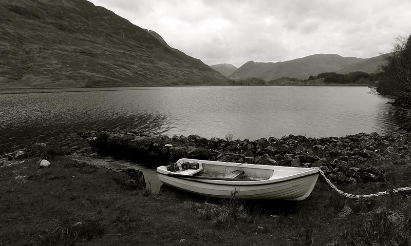 Mooring besides Loch Beannacharain