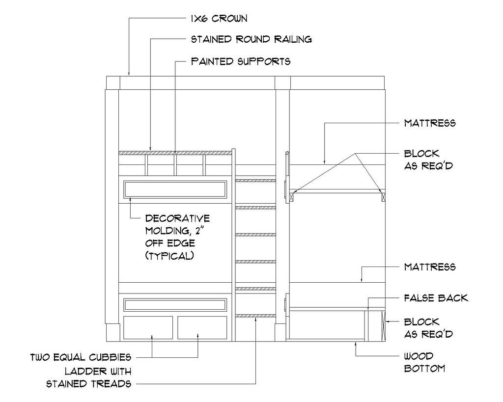 bunk room  elevation