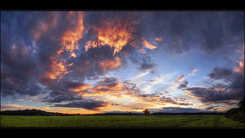 light sunset sky panorama tree nature field clouds skyscape landscape scenery colorful hungary skies wide scape hdr cloudscape hungarian