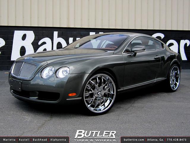 Bentley GT with 22in Asanti AF174 Wheels