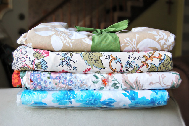 Vintage Sheets for Quilt Backings