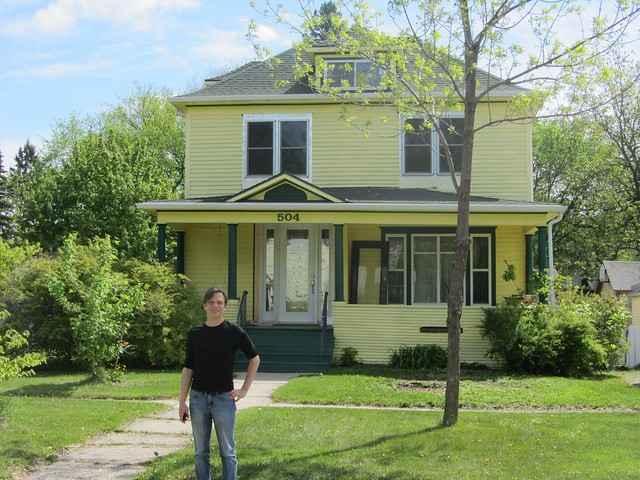 Me in front of my grandfather's house in Moorhead Minnesota.
