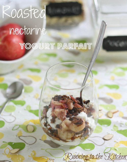 Roasted nectarine parfait