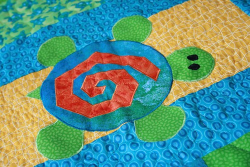 Turtle quilt - applique