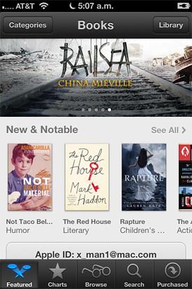 Nuevo iBooks Store