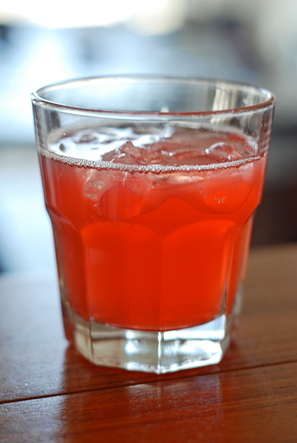 rhubarb and campari drink