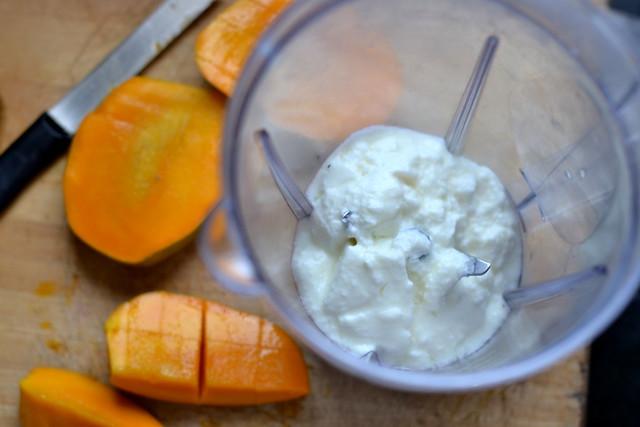 Yoghurt and Milk for Mango Smoothie