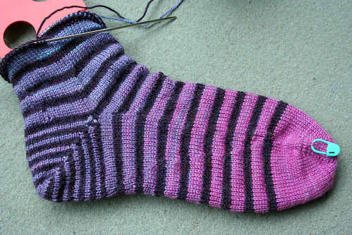 Stripey Sock in Progress