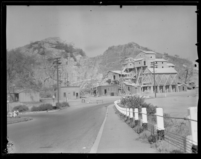 Mill building, possibly gravel quarry, near Saugus