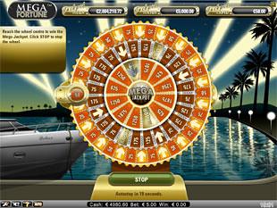 Mega Fortune bonus game