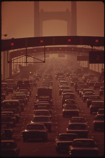 Walt Whitman Bridge Crosses The Delaware River At South Philadelphia, Leads To New Jersey Suburbs, August 1973