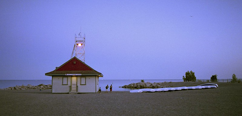 Life Guard Station at Dusk.