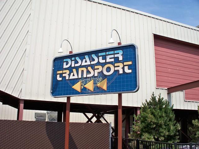 Cedar Point - Disaster Transport Sign