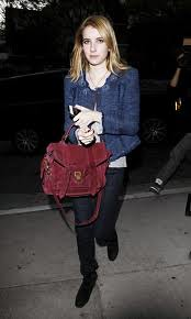 Emma Roberts Tweed Jacket Celebrity Style Women's Fashion