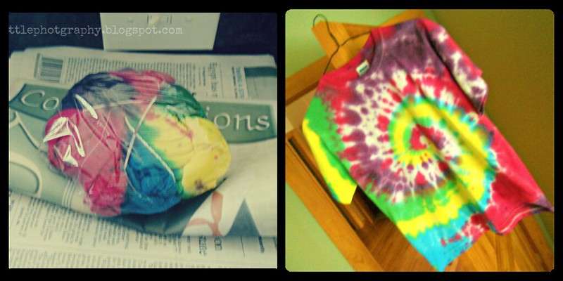tye dye shirt collage