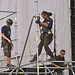 Riggers Dismantle the Stage following the Saturday night concert ©Dave Hamster