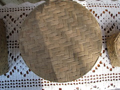 carving(0.0), mosaic(0.0), ancient history(0.0), wall(0.0), flooring(0.0), art(1.0), pattern(1.0), textile(1.0), wood(1.0), doily(1.0), design(1.0), circle(1.0),