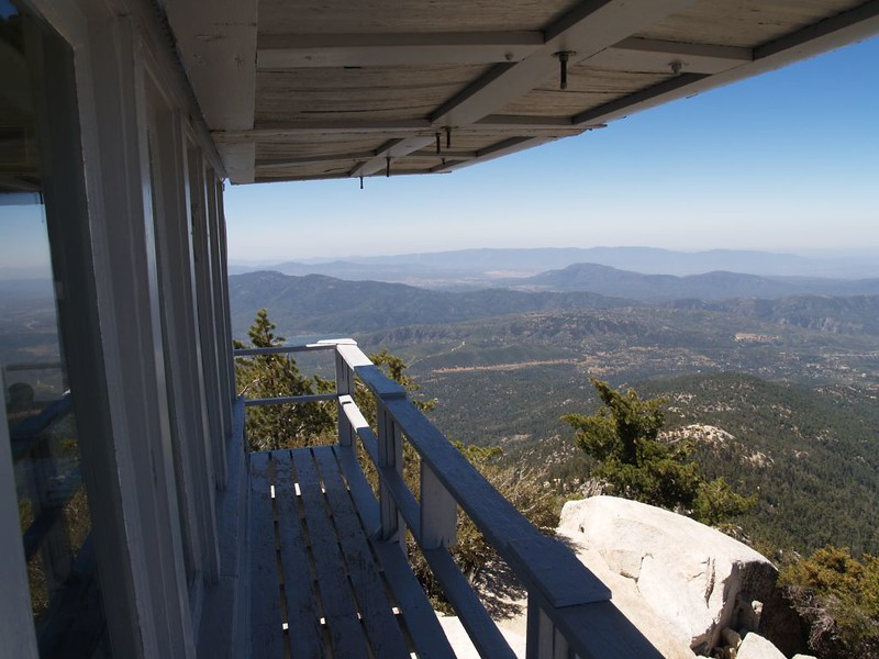 View south from the Tahquitz Peak Fire Lookout Tower
