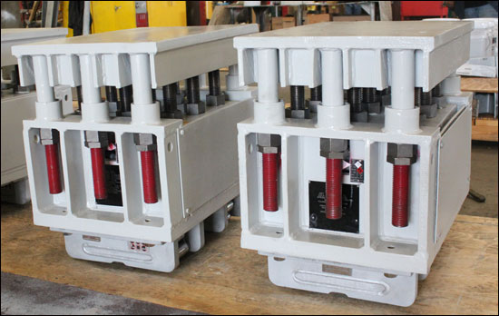 Big Ton Variable Spring Supports with Rollers Designed to Support a Load up to 60,000 lb.