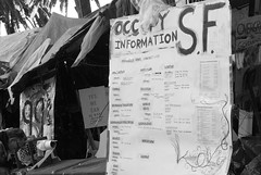 Information sign, Occupy SF
