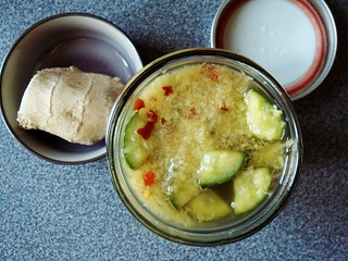 Crunchy Ginger-Pickled Cucumbers