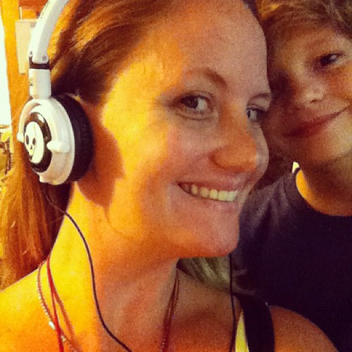 Jake came home with these crazy comfy headphones for me to wear while I rock out and sew for you guys!!!!!