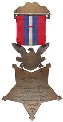 Medal of Homor awarded 1864 reverse