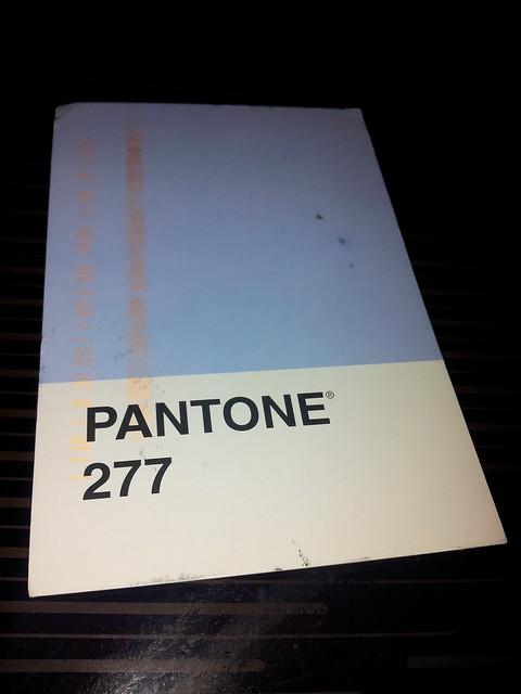 pantone postcard