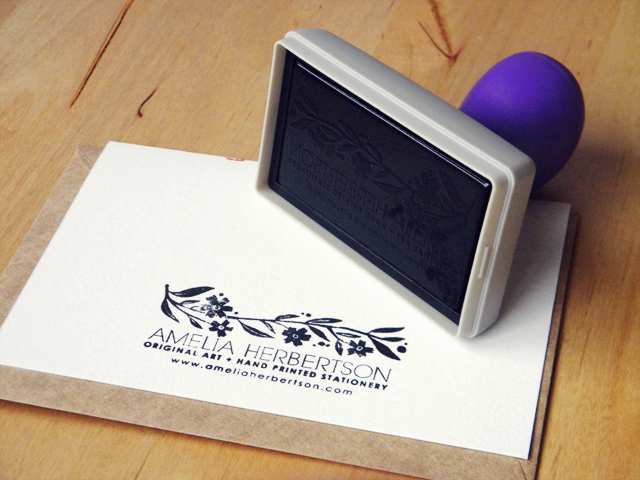 My new logo stamp I ordered.