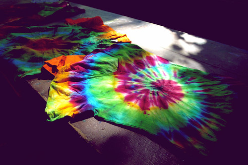 Tie dyed t-shirts.