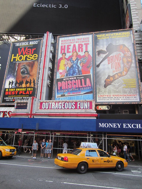 Priscilla, Queen of the Desert billboard for the musical on Broadway