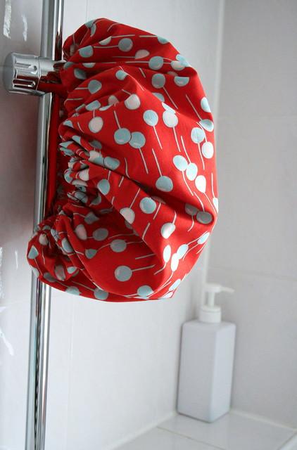 showercap with Felicity Miller fabrics