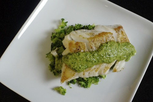 Pan Seared Cod with Herb Pesto