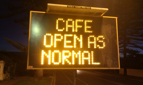 Cafe open as normal